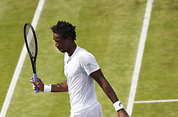 2017?7?4?.       ?????1???——??????????.         7?4??????????.         ???????????2017??????????????????????????3?0?????? Daniel Brands???????.        ????????.(SP) BRITAIN-LONDON-TENNIS-WIMBLEDON-DAY 2.(170704) -- LONDON, July 4, 2017  Gael Monfils of France competes during the men's singles first round match with Daniel Brands of Germany during Day Two of the Championship Wimbledon 2017 at Wimbledon, London, Britain on July 4, 2017. Gael Monfils won 3-0. (Credit Image: © Han Yan/Xinhua via ZUMA Wire)