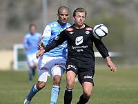 Fotball<br /> La Manga 2012<br /> 01.03.2012<br /> Sandnes Ulf v Sogndal<br /> Foto: Morten Olsen, Digitalsport<br /> <br /> Kamal Saaliti - Sandnes Ulf <br /> Eirik Skaasheim - Sogndal