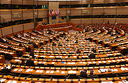 The Hemicycle at the European Parliament in Brussels, Belgium. (Photo © Jock Fistick)