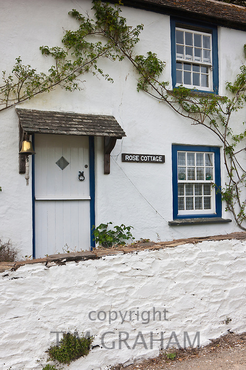 Rose Cottage at Helston on the Helford Estuary, Cornwall, England, UK