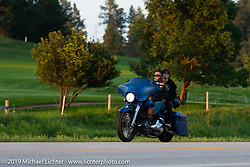 Riding up Boulder Canyon from Sturgis to Deadwood during the Sturgis Black Hills Motorcycle Rally, Friday, August 9, 2019. Photography ©2019 Michael Lichter.