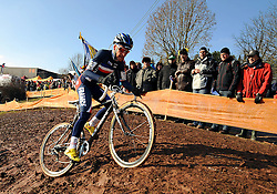 29-01-2011 VELDRIJDEN: WORLD CHAMPIONSHIP CYCLO CROSS: SANKT WENDEL<br /> French VENTURINI Clement in action during the junior Cyclo Cross World Championship<br /> ***NETHERLANDS ONLY***<br /> ©2010- FRH-nph / Laurent Dubrule