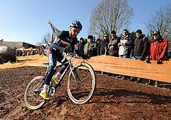 29-01-2011 VELDRIJDEN: WORLD CHAMPIONSHIP CYCLO CROSS: SANKT WENDEL<br /> French VENTURINI Clement in action during the junior Cyclo Cross World Championship<br /> ***NETHERLANDS ONLY***<br /> ©2010- FRH-nph / Laurent Dubrule