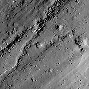A flood of impact melt swept away from the rim of Necho crater.