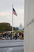 The United States Capitol Building as seen from the Washington Monument.