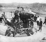 Russo-Japanese War 1904-1905. Japanese siege gun near Port Arthur, October 1904.