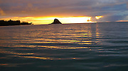 Sunrise, Chinamans Hat, Kaneohe Bay, Oahu, Hawaii
