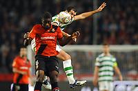 FOOTBALL - UEFA EUROPA LEAGUE 2011/2012 - GROUP STAGE - GROUP I - STADE RENNAIS v CELTIC - 20/10/2011 - PHOTO PASCAL ALLEE / DPPI -  ALEXANDER TETTEY (REN) / JOE LEDLEY (GLA)