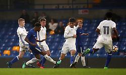Chelsea's Callum Hudson Odoi scores their third goal of the game