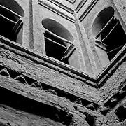 M'Hamid kasbah atrium, Mhamid, Morocco (November 2006)