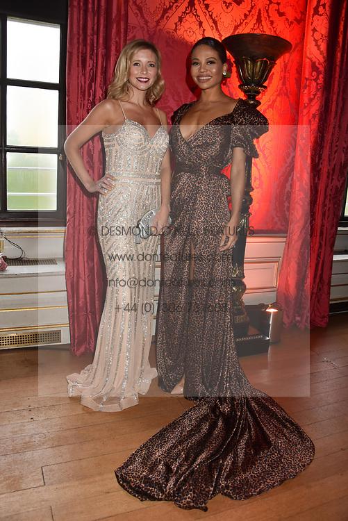 Rachel Riley and Viscountess Weymouth at the Tusk Ball at Kensington Palace, London, England. 09 May 2019.