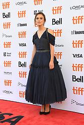 September 11, 2018 - Toronto, Ontario, Canada - KEIRA KNIGHTLEY attends 'Colette' premiere during the 2018 Toronto International Film Festival at Princess of Wales Theatre on September 11, 2018 in Toronto, Canada (Credit Image: © Igor Vidyashev/ZUMA Wire)