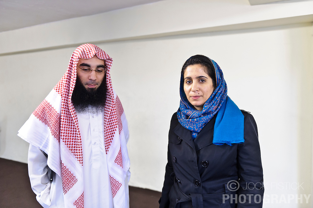 """Fouad Belkacem, a.k.a. Abu Imran, an Islamic extremist who is spearheading the movement """"Sharia4Belgium"""", shares his views during an interview with Der Spiegel Magazine, in Antwerp, Belgium on Tuesday, April 3, 2012. (Photo © Jock Fistick)"""