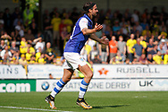 Sheffield Wednesday midfielder George Boyd (21) reacts during the EFL Sky Bet Championship match between Burton Albion and Sheffield Wednesday at the Pirelli Stadium, Burton upon Trent, England on 26 August 2017. Photo by Richard Holmes.