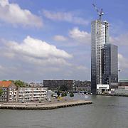 Rotterdam views of skyscraper and harbor