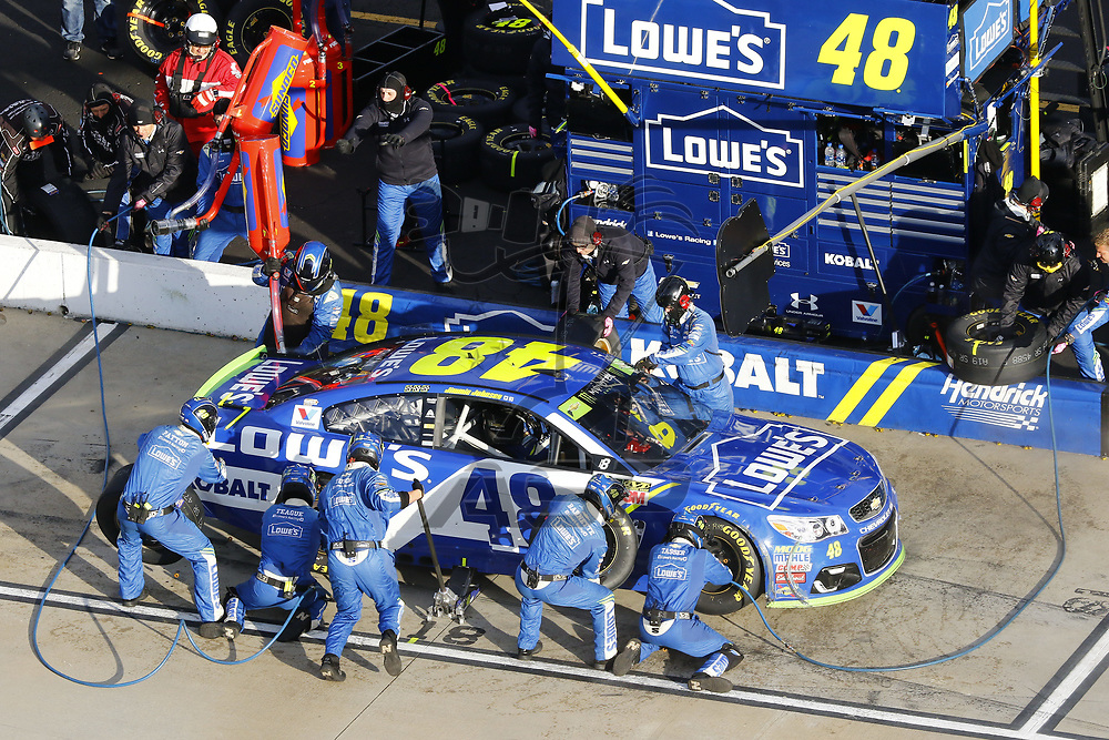 October 29, 2017 - Martinsville, Virginia, USA: Jimmie Johnson (48) brings his car down pit road for service during the First Data 500 at Martinsville Speedway in Martinsville, Virginia.