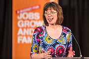 TUC General Secretary Frances O'Grady speaking at A Future for Families: A Future that Works. A TUC rally calling on the Chancellor to put families, jobs and growth first. 7th March, 2013. The Emmanuel Centre, Westminster, London.