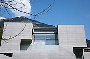 villa design in concrete, external view