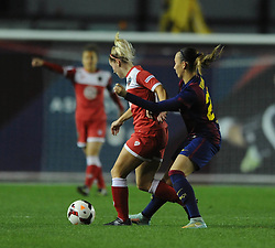 Bristol Academy Womens' Nikki Watts  - Photo mandatory by-line: Dougie Allward/JMP - Mobile: 07966 386802 - 13/11/2014 - SPORT - Football - Bristol - Ashton Gate - Bristol Academy Womens FC v FC Barcelona - Women's Champions League
