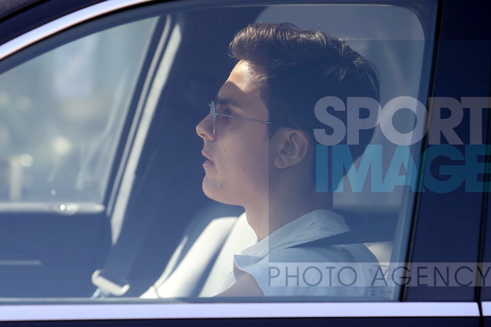 Juventus's Argentinian striker Paulo Dybala arrives for training as part of Serie A restart at the Juventus Training Centre, Turin. Picture date: 20th May 2020. Picture credit should read: Jonathan Moscrop/Sportimage