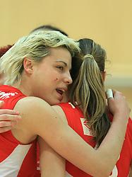Bojana Stojkovic (1) of OK Branik at semifinal of 1st DOL volleyball match between OK Sloving Vital, Ljubljana and OK Nova KBM Branik, Maribor played in BIC center, on April 1, 2009, in Ljubljana, Slovenia. Nova KBM Branik won 3:1. (Photo by Vid Ponikvar / Sportida)