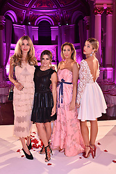 Left to right, Sophie Ball, Zoe Hardman, Laura Pradelska and Francesca Sieler at the Floral Ball in aid of Sheba Medical Center hosted by Laura Pradelska and Zoe Hardman and held at One Marylebone, 1 Marylebone Road, London England. 14 March 2017.