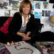 Russian VOGUE editor Alyona Doletskaya at the VOGUE editorial office in Moscow, Russia.