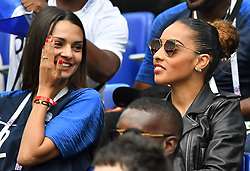 Sandra Corentin Tolisso girlfriend and sister Marine during the FIFA World Cup 2018 Round of 8 match at the Nizhny Novgorod Stadium Russia, on July 6, 2018. . Photo by Christian Liewig/ABACAPRESS.COM