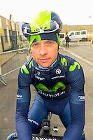 Gadret John - Movistar - 31.03.2015 - Trois jours de La Panne - Etape 01 - De Panne / Zottegem <br /> Photo : Sirotti / Icon Sport<br /> <br />   *** Local Caption ***