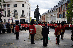 © Licensed to London News Pictures. 24/06/2011. Windsor, Berkshire. The unveiling of a new statue in honour of the Windsor based Irish Guards in the town centre of Windsor, Berks today (24/06/2011), ahead of Armed forces day tomorrow. Photo credit should read: Ben Cawthra/LNP