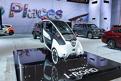 09 February 2017: Toyota iRoad<br /> <br /> First staged in 1901, the Chicago Auto Show is the largest auto show in North America and has been held more times than any other auto exposition on the continent.  It has been  presented by the Chicago Automobile Trade Association (CATA) since 1935.  It is held at McCormick Place, Chicago Illinois<br /> #CAS17