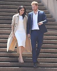 AU_1369902 - Sydney, AUSTRALIA  -  Prince Harry and Meghan Markle meet fans at the Sydney Opera House in Sydney, Australia<br /> <br /> Pictured: Prince Harry and Meghan Markle<br /> <br /> BACKGRID Australia 15 OCTOBER 2018 <br /> <br /> BYLINE MUST READ: Faith Moran / BACKGRID<br /> <br /> Phone: + 61 2 8719 0598<br /> Email:  photos@backgrid.com.au