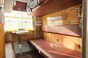 Cabin on-board the BAM (Baikal-Amur Mainline) Siberia, Russia