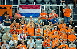 Supporters of Netherlands during basketball match between Georgia and Netherlands at Day 1 in Group C of FIBA Europe Eurobasket 2015, on September 5, 2015, in Arena Zagreb, Croatia. Photo by Vid Ponikvar / Sportida
