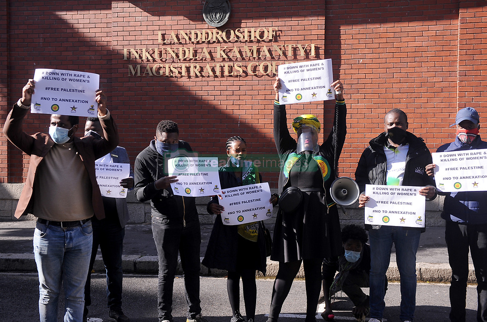 South Africa - Cape Town - 14 July 2020 -Consistent with our ongoing campaign against Gender-Based Violence, the South African Youth Council in the Western Cape join various organisations and activists in Cape Town Magistrate Court. A 50 year old suspect who owns a modelling agency appear for bail application in a rape case whose victim is a 14year old minor and  more other alleged victims spoke out again his predatory tendencies. SAYC WC commits to always stand on the side of the victims despite the position of the perpetrator and to intensify awareness campaign on Gender-Based Violence and related crimes. Photographer Ayanda Ndamane/ African News Agency(ANA)