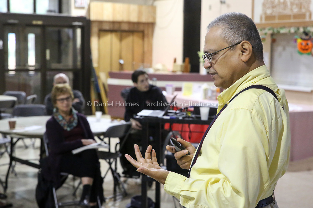 (10/14/17, HOLLISTON, MA) Dhruba Sen speaks about racial injustice during a seminar sponsored by Standing Up for Racial Injustice at Fatima Shrine in Holliston on Saturday. [Daily News and Wicked Local Photo/Dan Holmes]