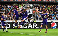 Football UEFA Champions League Q3<br /> Rosenborg - Maribor<br /> Lerkendal Stadium, Trondheim, Norway<br /> 13 August 2019<br /> <br /> Mølje foran Maribors mål<br /> <br /> Foto : Arve Johnsen, Digitalsport