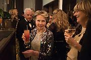 LESLIE CARON; NICKY HASLAM; CATHERINE GUINNESS Nicky Haslam hosts dinner at  Gigi's for Leslie Caron. 22 Woodstock St. London. W1C 2AR. 25 March 2015