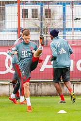 14.03.2019, Säbener Strasse, Muenchen, GER, 1. FBL, FC Bayern Muenchen vs 1. FSV Mainz 05, Training, im Bild v.l. Joshua Kimmich (FC Bayern), Jerome Boateng (FC Bayern) // during a trainings session before the German Bundesliga 26th round match between FC Bayern Muenchen and 1. FSV Mainz 05 at the Säbener Strasse in Muenchen, Germany on 2019/03/14. EXPA Pictures © 2019, PhotoCredit: EXPA/ Lukas Huter