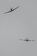 The Battle of BritainMemorial flight (A Lancaster, a Spitfire and a Hurricane) fly past - The Duxford Battle of Britain Air Show is a finale to the centenary of the Royal Air Force (RAF) with a celebration of 100 years of RAF history and a vision of its innovative future capability.