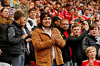 Football - 2021 / 2022 Pre-Season Friendly - Manchester United vs Everton - Old Trafford - Saturday 7th August 2021<br /> <br /> Manchester United fans welcome their team before the start of the game, at Old Trafford.<br /> <br /> COLORSPORT/ALAN MARTIN