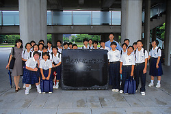 Class In Front Of Peace Museum