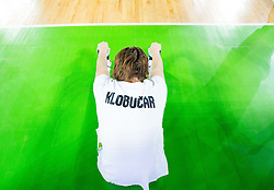 Jaka Klobucar of Slovenia during friendly basketball match between National Teams of Slovenia and Brasil at Day 2 of Telemach Tournament on August 22, 2014 in Arena Stozice, Ljubljana, Slovenia. Photo by Vid Ponikvar / Sportida