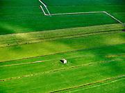 Nederland, Noord-Holland, Ankeveen, 07-05-2021; <br /> Bunker in weiland, officiele naam Groepsschuilplaats. Ten Oosten van Fort Hinderdam, Nieuwe Hollandse Waterlinie (tussen Hilversum en Weesp).<br /> Bunker in meadow, official name Group shelter. East of Fort Hinderdam, New Dutch Waterline (between Hilversum and Weesp).<br /> <br /> luchtfoto (toeslag op standard tarieven);<br /> aerial photo (additional fee required)<br /> copyright © 2021 foto/photo Siebe Swart