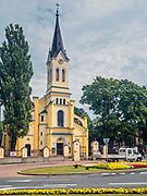 Neogotycki kościół Trójcy Przenajświętszej w Grajewie, Polska<br /> Neo-Gothic Church of the Holy Trinity in Grajewo, Poland