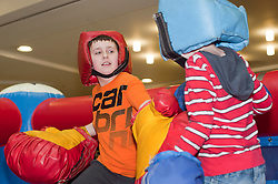"""Tommy Gunstone and Jack Maddock at the launch of the """"Winning The Fight For Breath  with COPD Campaign"""" in Meadowhall Shopping Centre Sheffield on Saturday 18th February 2012..www.pauldaviddrabble.co.uk..18th February 2012 -  Image © Paul David Drabble"""