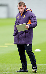LIVERPOOL, ENGLAND - Wednesday, November 7, 2012: Liverpool's manager Brendan Rodgers during a training session at the club's Melwood Training Ground ahead of the UEFA Europa League Group A match against FC Anji Makhachkala. (Pic by Vegard Grott/Propaganda)