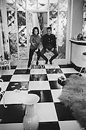 1959. Playing a card game on the floor<br /> inside Romy's mother's home.<br /> Romy was much better at this game than Alan.<br /> <br /> 1959. Jeu de cartes sur le plancher<br /> à l'intérieur de la maison de la mère de Romy .<br /> Romy Schneider était beaucoup mieux à ce jeu qu' Alain Delon .