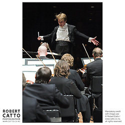 Pietari Inkinen conducts the New Zealand Symphony Orchestra at the Michael Fowler Centre, Wellington, New Zealand.