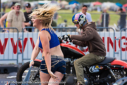 Drag racing at the track Friday afternoon during the Smokeout. Rockingham, NC. USA. June 19, 2015.  Photography ©2015 Michael Lichter.